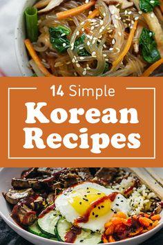 14 Classic Korean Recipes For Beginners Food Recipes For Dinner, Food Recipes Homemade Greek Recipes, Asian Recipes, Ethnic Recipes, Healthy Korean Recipes, Healthy Food, Asian Desserts, Healthy Eating, Greek Diet, Snacks Saludables
