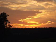 Sonnenuntergang Oberfranken
