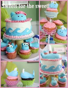 cute whale party @Anna Rucker you should so do this!!