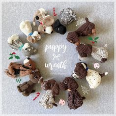 "Aidie & Jellybean on Instagram: ""Happy Monday everyone✨ My hook was working at triple speed over the weekend and I managed to finish more than 10 puppies🐾 It might be my…"" Toy Sale, Jelly Beans, Happy Monday, Weekend Is Over, Burlap Wreath, It Is Finished, Puppies, Pattern, Instagram"