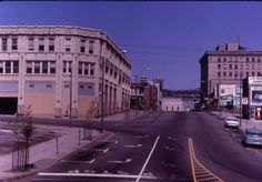 Deserted downtown Asheville in the 1960s before its regeneration.