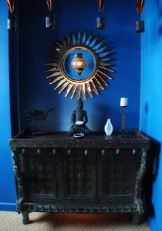 I am by no means a Buddhist, but this altar area is gorgeous!
