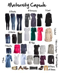 """""""Maternity Capsule Wardrobe"""" by Maternity Work Clothes, Cute Maternity Outfits, Fall Maternity, Stylish Maternity, Maternity Fashion, Maternity Dresses, Maxi Dresses, Maternity Style, Inexpensive Maternity Clothes"""