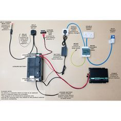 Complete Campervan/motorhome electrical conversion wiring kit 12V 240V