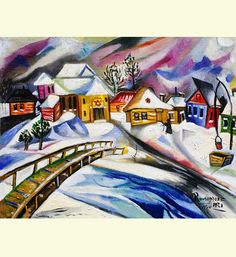 Check out this item in my Etsy shop https://www.etsy.com/listing/593197280/synagogue-by-the-bridge-in-winter