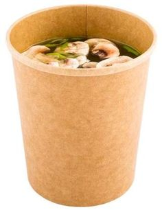 Restaurantware Paper Take-Out Soup Cups - Round - Kraft - - Extra Large - 200 Count Box Soup Containers, Chicken Tortilla Soup, Broccoli Cheddar, Cold Meals, Great Restaurants, Kraft Paper, Food Truck, Street Food, Biodegradable Products