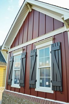 Vertical plank siding by James Hardie.