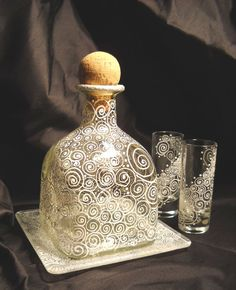 Ahhh! To do: etch old patron bottle and pair of glasses.
