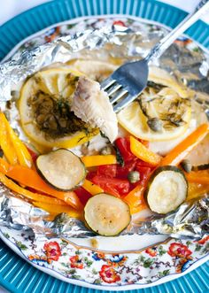 Lemon Caper Tilapia Grilled in a Foil Packet