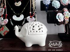 cute ceramic elephant jewelry  box key holder birthday christmas gift ornament on Etsy, $9.99