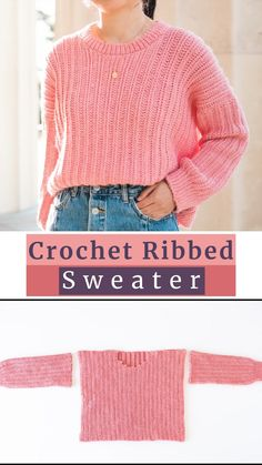Crochet Jumper Pattern, Jumper Patterns, Clothes Patterns, Easy Sweater Knitting Patterns, Knitting Sweaters, Beanie Pattern, Knit Patterns, Fast Crochet, Mode Crochet
