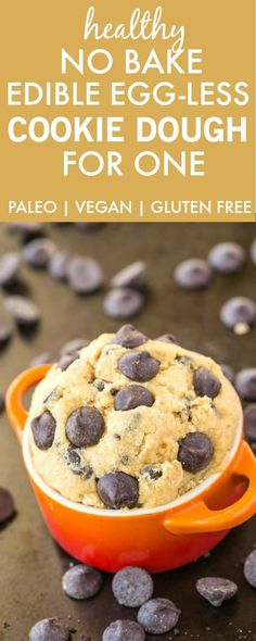 Healthy Classic Cookie Dough for One- Smooth, creamy and a generous serving for…