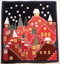 Happy Villages Christmas quilt by Lene Alve (Finland).  Inspired by Karen Eckmeier.