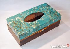 galeria decoupage - Google Search Kleenex Box, Decoupage Box, Covered Boxes, Tissue Boxes, Cherry Blossom, Ideas Para, Diy And Crafts, Creations, Crafty