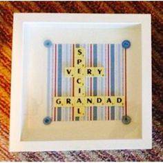 Very special grandad scrabble art frame. Grandparents by Waystosay