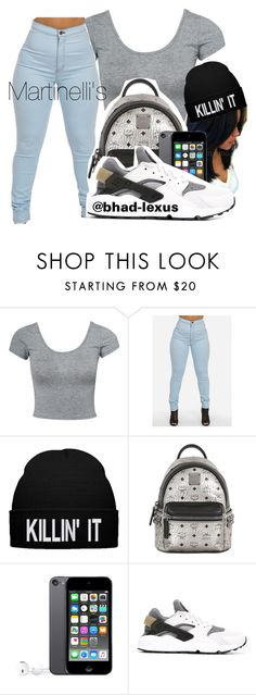 """Sip Slow, Don't Choke "" by bhad-lexus ❤ liked on Polyvore featuring Estradeur, MCM and NIKE"