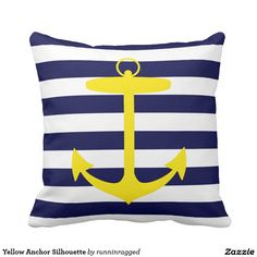 Yellow Anchor Silhouette