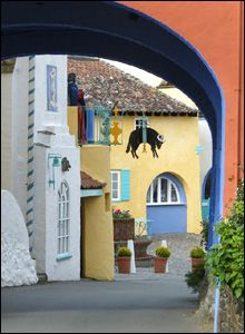 When we were in Port Meirion, Wales, we told each other to remember the wonderful architecture colors and do that at home! Wales Uk, North Wales, Places To See, Places Ive Been, Port Meirion, Portmeirion Pottery, Snowdonia, Cymru, Albania