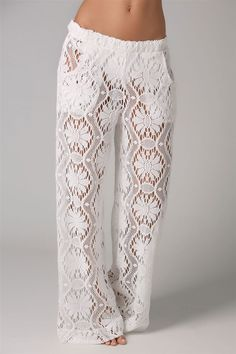 Trina Turk's Kuta Crochet Covers Pants | Everything But Water - I would never wear these, but they're so ridiculously cute...