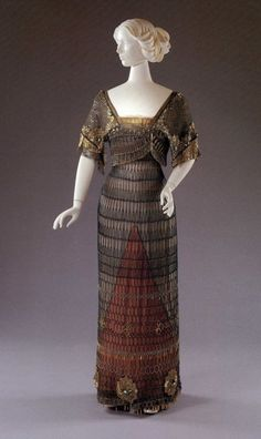 Marcel Demay evening dress, 1910-11 From the Cincinnati Art...