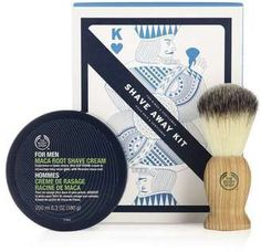 The Body Shop Shave Away Kit, Paraben-Free Shave Kit for Men The Body Shop, Shaving Brush, Shaving Cream, Body Shop Christmas, Christmas Gifts, Vegan Gifts, Stocking Fillers, Kit, Gifts For Dad