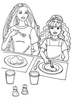Free Kids Coloring Pages, Barbie Coloring Pages, Coloring Pages To Print, Coloring Pages For Kids, Coloring Sheets, Doodle Coloring, Colouring, Adult Coloring, Coloring Books