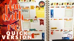 PLAN WITH ME: WEEK 37 IN MY MEAD PLANNER - FALL THEME - QUICK VERSION