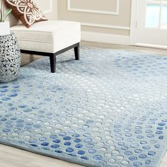 Safavieh Soho Light Blue Wool Area Rug 9' x 12' - SOH654B-912 #Safavieh #Contemporary