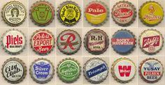 Vintage beer caps