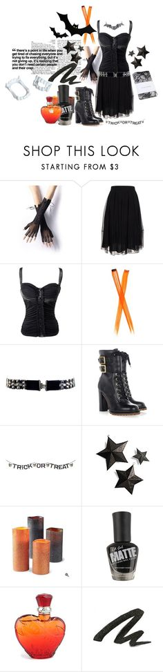 """""""we set the standards for the emotionless"""" by rockproletin ❤ liked on Polyvore featuring Burberry, Tory Burch, Martha Stewart, Forever 21, Miss Sixty, Urban Decay, boots, halloween, black and rock"""