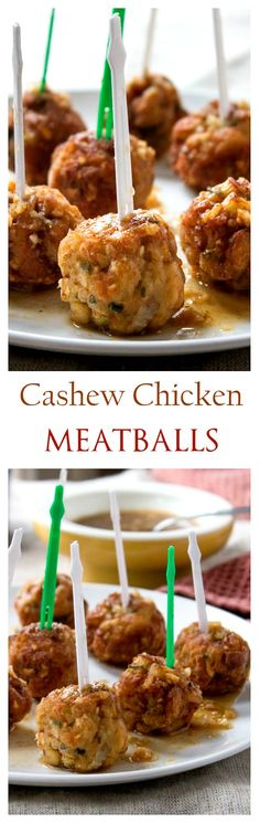 Cashew Chicken Meatballs with Sweet & Sour Sauce! DELICIOUS!