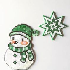 Snowman perler beads by imayfair by lorie