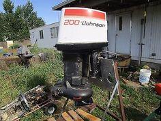 Johnson 200 outboard motor w jet drive / stainless impeller / 2 stroke/ power ti