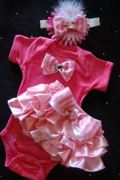 NEWBORN baby girl take me home outfit by BeBeBlingBoutique on Etsy