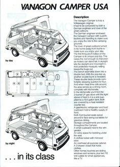 vw camper van interior layout - Google Search