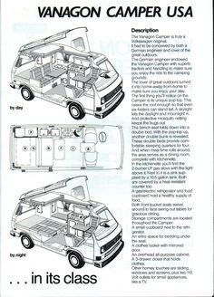 vw camper van interior layout - Google Search
