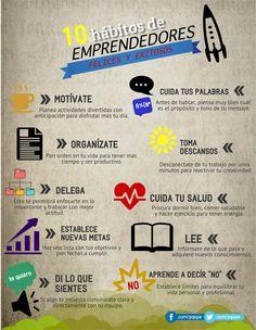 [INFOGRAFÍA] 10 hábitos de emprendedores felices y exitosos | Emprendimiento