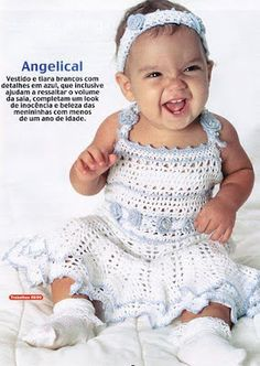 Angelical vs.Sweet Sailor Baby Girl Dress Free Pattern Chart