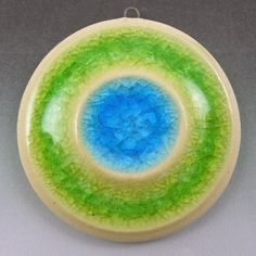 Fused Glass and Ceramic Pendant by ClassDestash on Etsy, $10.00