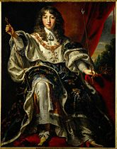 King Louis XIV of France (1638-1715) in coronation dress. Son of Louis XIII of France and Anne of Austria. Husband to Maria Theresa of Spain and Francoise d'Aubigne