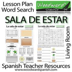 Spanish Teacher Resources: Sala de Estar - Living Room - Group Activity and Word Search
