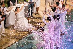 One look at this outdoor destination wedding in Thailand with The Wedding Bliss Thailand and IAMFLOWER and you will be giddy over the decor and fun factors. Wedding Pictures, Wedding Ideas, Gold Wedding Theme, Strictly Weddings, Floral Arch, Koh Samui, Blush Pink, Destination Wedding, Thailand