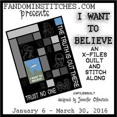#xfilesquilt - I Want To Believe on fandominstitches.com