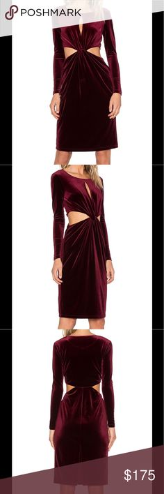 """🚫 Offers x Revolve Cut Out Midi Dress NBD is the young line that are in great demand at It-Girls, the creations are sexy, casual and of course trendy. Be the life if the party in this gorgeous dress! Poly blend ·         Hand wash cold ·         Fully lined ·         Waist cut-out with twist detail ·         Back keyhole ·         Shoulder seam to hem measures approximately 42"""" in length ·         Color – Black Berry NBD Dresses Midi"""