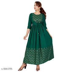 Checkout this latest Kurtis Product Name: *Women's Printed Cotton Kurti* Fabric: Cotton Sleeve Length: Three-Quarter Sleeves Pattern: Printed Combo of: Single Sizes: S, M (Bust Size: 38 in, Size Length: 50 in)  L (Bust Size: 40 in, Size Length: 50 in)  XL (Bust Size: 42 in, Size Length: 50 in)  XXL (Bust Size: 44 in, Size Length: 50 in)  XXXL (Bust Size: 46 in, Size Length: 50 in)  Country of Origin: India Easy Returns Available In Case Of Any Issue   Catalog Rating: ★4 (272)  Catalog Name: Women Rayon Flared Embroidered Yellow Kurti CatalogID_744943 C74-SC1001 Code: 994-5061770-5931