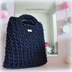 Ravelry: ToteBag Cordy pattern by Katy Ramil Krampolinka Purse Patterns, Stitch Patterns, Crochet Patterns, Crochet Ideas, V Stitch, Slip Stitch, Chunky Crochet, Free Crochet, Half Double Crochet