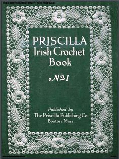 A wide variety of flower, fruit and leaf motifs, a few grounds and edgings, instructions for hats, collars, cuffs, yoke, jabot, opera bag, edgings, doily. | http://www.antiquepatternlibrary.org/pub/PDF/6-JA034PrisIrish1.pdf