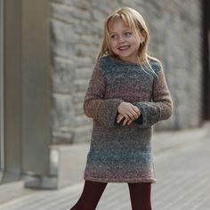 pattern knit crochet kids dress autumn winter katia 6099 24 g Baby Knitting Patterns, Jumper Knitting Pattern, Jumper Patterns, Girl Dress Patterns, Knitting For Kids, Crochet For Kids, Free Knitting, Knit Crochet, Autumn Crochet