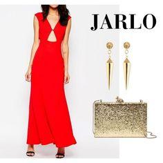 Vestido largo de la firma londinense Jarlo. Talla: 42. Color: Rojo.