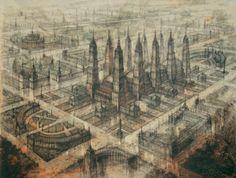 Yakov Chernikhov Arquitectura Arquitetura Desenhos Projectos Projetos Visionario Visoes Utopia